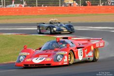 Photo gallery, race results and report from the Silverstone Classic held July at Silverstone Grand Prix circuit in Northamptonshire, England. Sports Car Racing, Road Racing, Sport Cars, Auto Racing, Le Mans, Ferrari Racing, Car Racer, Automobile, Old Race Cars