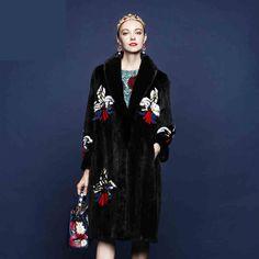 342e31910e0 Woman s Fur Coat Mink Coat Long Section Full Pelt Double Faced Fur Coat  Black Color GSJ029-in Fur   Faux Fur from Women s Clothing   Accessories on  ...