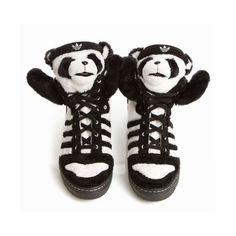 Panda bear adidas Jeremy Scott ❤ liked on Polyvore featuring shoes, sneakers, jeremy scott and schuhe