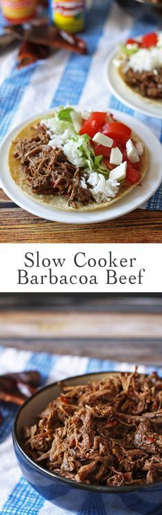 Make this slow cooker coffee barbacoa beef the next time you are in the mood for tacos, burritos or quesadillas! | http://www.honeyandbirch.com
