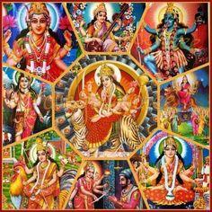 Many Forms of Maha Devi Shakti (