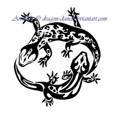 Yin and Yang Gecko Tattoo Commission by DansuDragon.deviantart.com on @deviantART