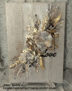 Pushing The Right Buttons: Silver and Gold for The Mixed Media Monthly Challenge