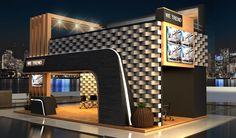 Wetrend Booth on Behance Kiosk Design, Facade Design, Architecture Design, House Outside Design, House Front Design, Exhibition Stall Design, Showroom Design, Restaurant Exterior Design, Modern Gazebo