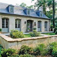 We love the French-inspired exterior of this home! You won't believe the before: http://www.bhg.com/home-improvement/exteriors/curb-appeal/before-and-after-home-exteriors/?socsrc=bhgpin070114frenchtwist&page=7