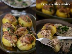 European Dishes, B Food, Polish Recipes, Baked Potato, Holiday Recipes, Food To Make, Cooking Recipes, Potatoes, Lunch