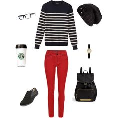 """Fall coffee date. :)"" by elismill on Polyvore"