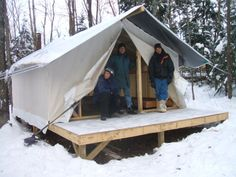 A site with a huge list of canvas tent manufacturers.