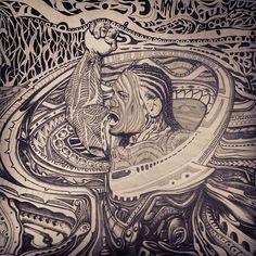 Finally a drawing I started a few years ago of Alesana Tuilagi Manu Samoa #ManuSamoa #Teampoly #Rugby #art