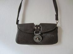 Vintage Unique Grenadier Guards Pleather Purse in Black and Brown // Vintage Handbag