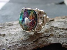 Custom Handcrafted Dichroic Glass Memorial Keepsake Cremains, Pendant | PatriciaLJohnsonGlassArt - Jewelry on ArtFire