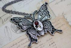 Steampunk Necklace Butterfly Necklace Steam by inspiredbyelizabeth, $39.00