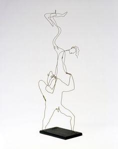 Alexander Calder,  Acrobats,  c. 1927.  Wire and wood.  87.6 x 22.9 x 30.5 cm. Calder Foundation, New York