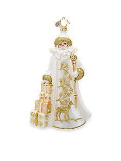 Christopher Radko Metallic Frost St. Nicholas Glass Ornament