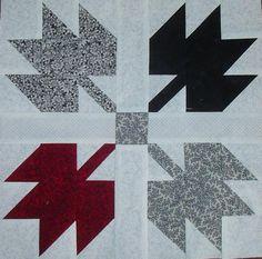 """12"""" leaf quilt block tute"""
