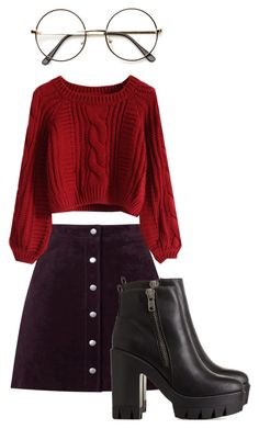 """Bez naslova #94"" by armina-saric ❤ liked on Polyvore featuring Warehouse, Chicwish, ZeroUV and Charlotte Russe"