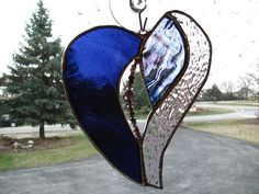 Purple Passion Stained Glass Heart by PrismStainedGlass on Etsy, $22.00