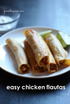 "Easy Chicken Flautas | Good Cheap Eats - forget frozen taquitas. Make your own ""tube tacos"" at home for cheaper."