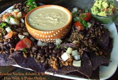 Dairy Free & Paleo Queso With Loaded Nachos