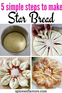 This Christmas enjoy your morning Breakfast with this soft, fluffy, perfectly sweetened Star Bread with a cuppa of coffee that can be made in 5 simple steps How To Make Stars, Star Bread, Instant Yeast, Instant Pot, Bread Shaping, Cardamom Powder, Christmas Breakfast, Bread Rolls, Nut Butter