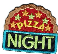 Girl-Boy-Cub-PIZZA-NIGHT-Party-Fun-Patches-Crests-Badges-SCOUT-GUIDE-Day-Event
