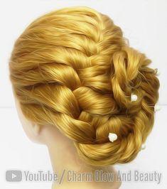 Braided Bun Hairstyles, Braided Updo, Easy Hairstyles, Wedding Hairstyles, Fishtail Braid Buns, Fishbone Braid, Bridal Hair Updo Loose, Wedding Hair And Makeup, Hair Makeup