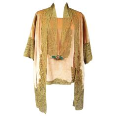 Boué Soeurs Paris New York Haute Couture circa 1925 | See more vintage Negligees at https://www.1stdibs.com/fashion/clothing/lingerie/negligees in 1stdibs