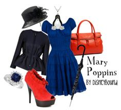 Mary Poppins outfit by Disneybound! Disney Themed Outfits, Disney Bound Outfits, Mary Poppins Outfit, Disney Inspired Fashion, Disney Fashion, Disney Dress Up, Disney Clothes, Character Inspired Outfits, Vogue