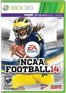 Take a first look at Denard Robinson gracing the cover of EA Sports NCAA Football 14.
