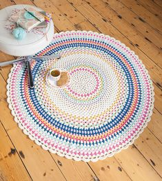 Scarborough Rock Floor Throw from Crochet Home by Emma Lamb | Crochet designs and styling by Emma Lamb / Photography by Jason M Jenkins