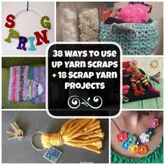 38 Ways to Use Up Yarn Scraps + 18 Scrap Yarn Projects
