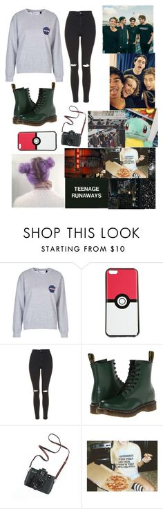 """Hang'in out with 5SOS in Japan"" by that-1-awkward-friend1234 ❤ liked on Polyvore featuring Topshop, Dr. Martens and Madewell"