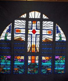 Glenshaw Valley Presby Church stain glass window in Pittsburgh PA