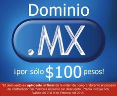 Promoción en dominios MX desde $100 pesos Promoción en dominios MX desde $100 pesosLos dominios.mx han bajado de precio, así que aprovecha esta promoción aquí te dejo la información:  Neubox – $119 pesos 1 año  JettHost – $100 pesos 1 año