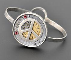 kristi zevenbergen jewelry   Kristi Zevenbergen: Bracelet in sterling silver, vintage watch face ...