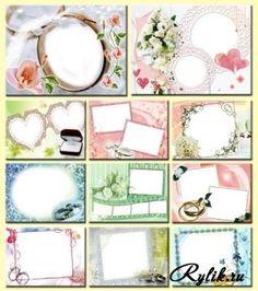 Набор свадебных рамок (11 шт)