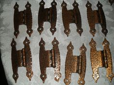 Antique Brass Furniture Trunk Cabinet Hardware Lot Hinges Latches Vintage | eBay 8 for $15.99 (not stamped with origin)