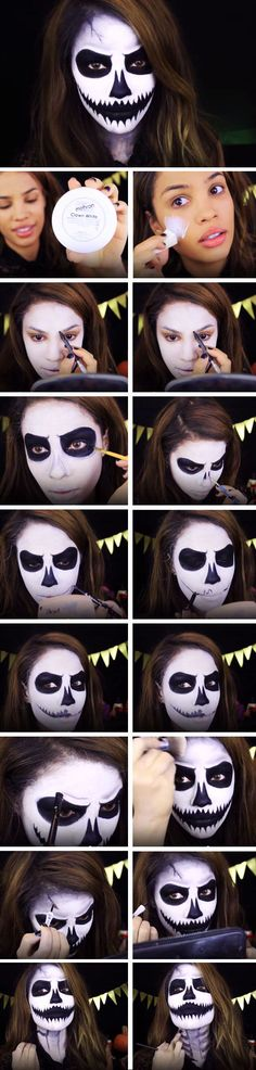 17 Halloween Makeup Tutorials So Cool You Won't Even Need A Costume (Black Hair Tutorial)