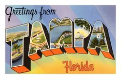 Greetings from Tampa, Florida Premium Poster - Get Roundy!