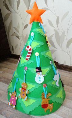 Новогодняя елка из фетра.