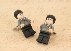 harry potter cufflinks lego minifigs :)