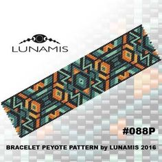 Peyote bracelet pattern, peyote pattern, stitch pattern, pdf file, pdf pattern, #088P by LunamisBeadsPatterns on Etsy