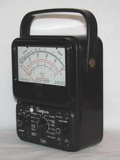 My first voltmeter around Never owned but used extensively. The model shown has overload protection (white button) and other models I used had the anti-parallax mirror. Volt Ampere, Diy Tech, Circuit Design, Shop Layout, Ham Radio, Retro, Old Things, Models, Circuits