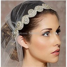 Wholesale Other Bridal Accessories - Buy New Vantage Bridal Wedding Handmade Embroidery Rhinestone Crystals Headband Hair Jewelry Pearl Beads Lace Flower Headpieces Sash Belt, $10.37 | DHgate