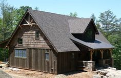 Plan Vacation Cabin With Vaulted Ceilings Pole Barn House Plans, Cabin House Plans, Cabin Floor Plans, Mountain House Plans, Pole Barn Homes, Small House Plans, Mountain Homes, Small Log Homes, Tiny Homes