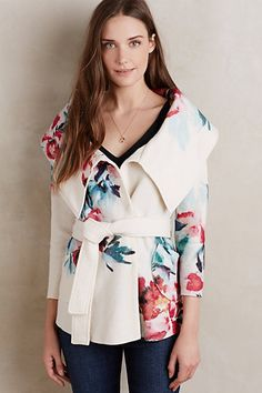 Winter Blossom Wool Jacket #anthropologie