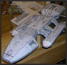 BattleStar Galactica Spaceship Ver.2 Free Paper Model Download