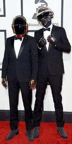Daft Punk 2014 Grammys Red Carpet look too good