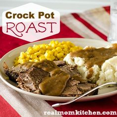 Crock Pot Roast | realmomkitchen.com