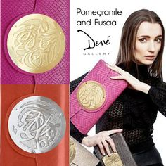 Did you know about the love affair between Pomegranate and Fuscia? Find out more at Dené Gallery, or shop our artist purses by Dareen Hakim at http://www.geneva-illinois-jeweler.com/#!handbags/c11g4 10% off anything Pomegranate or Fuscia